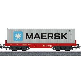 """Märklin 00192 Flakvagn 4566 6 119-4 typ DB Cargo med last av 40 fots container """"Maersk"""""""