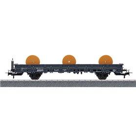 Märklin 00194 Flakvagn 335 5 018-1 RIV-EUROP DB Kbs med last av 3 st kabelrullar