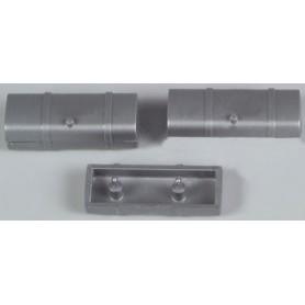 AMW 90053 Reservtankar för lastbilar, silver, 8 st