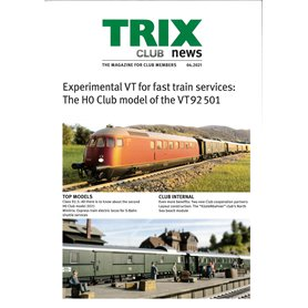Trix CLUB42021 Trix Club 04/2021, magasin från Trix, 23 sidor i färg, Engelska