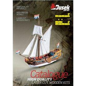 Media KAT295 Dusek Huvudkatalog, byggsatser i trä av båtmodeller