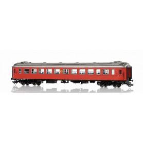 NMJ 204001 Personvagn SJ Bo1.4898, 2:a klass brun med rund SJ-logo