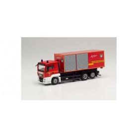 Herpa 096331 MAN TGS XL swap-body truck 'Fire brigade Eschweiler   City region Aachen'
