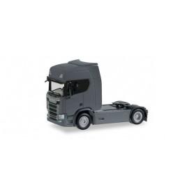 Herpa 307185-003 Scania CR high roof rigid tractor, Iron grey