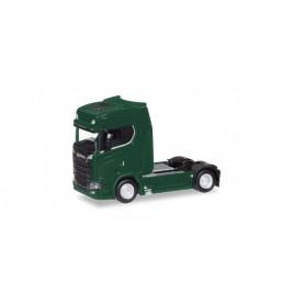 Herpa 307468-004 Scania CS high roof V8 rigid tractor with sun shield, dark green