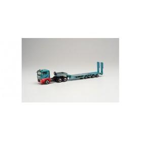 Herpa 314022 MAN TGX XL 6×4 lowbed semitrailer 'Schmuttermair'