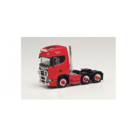 Herpa 314053 Scania CS 20 high roof 6×2 tractor with pipes, lamp bracket, fanfare, and impact protection, red