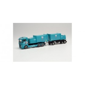 Herpa 314152 MAN TGX GM compactor container trailer truck 'KS Containerdienst'