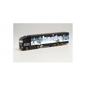 Herpa 314176 Iveco S-Way box semitrailer 'Herpa Christmas Model 2021'