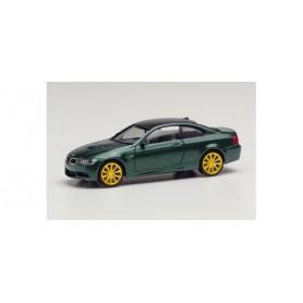 Herpa 033862-002 BMW M3 Coupé, British Racing Green metallic, rims gold