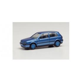Herpa 034074-002 VW Golf III VR6 blue metallic, rims blue