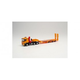 Herpa 313933 Mercedes-Benz Arocs Classic 6×4 with loading crane all-rounder semitrailer tractor