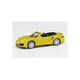 Herpa 028929-002 Porsche 911 Turbo Cabriolet, racing yellow