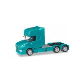 Herpa 151726-008 Scania Hauber Topline rigid tractor 6x4, turquoise blue
