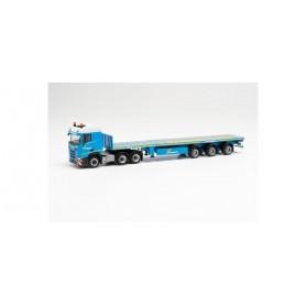 """Herpa 313858 Scania CR 20 low roof 6x4 teletrailer semitrailer """"Felbermayr"""""""