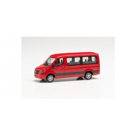 Herpa 096478 Mercedes-Benz Sprinter '18 bus low roof, fire red