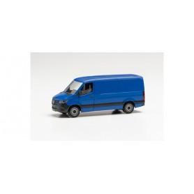 Herpa 096485 Mercedes-Benz Sprinter '18 box low roof, ultramarine blue