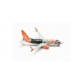 """Herpa Wings 535731 Flygplan SkyUp Airlines Boeing 737-700 """"Shaktar Donetsk"""" – UR-SQE"""