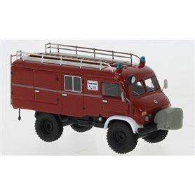 BOS 87786 Mercedes Unimog 404 S LF8, röd/vit, Feuerwehr, 1962