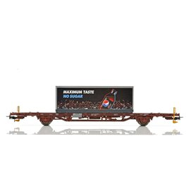NMJ 507124 Containervagn CargoNet Lgns 42 76 443 2377-1, Pepsi Max