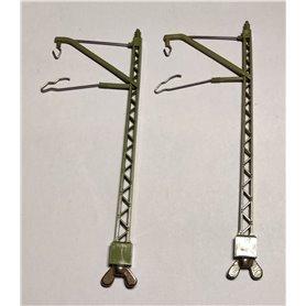 Märklin 409MB.1 Luftledningsstolpe för bro, 1 par