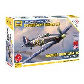 Zvezda 7322 Flygplan British Fighter Hawker Hurricane IIC