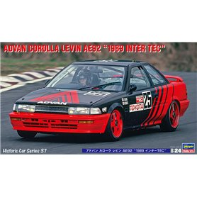 "Hasegawa 21137 ADVAN COROLLA LEVIN AE92 ""1989 INTER TEC"""