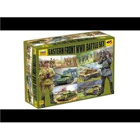 "Zvezda 5203 Eastern Front WWII Battle Set ""Snap Kit"""