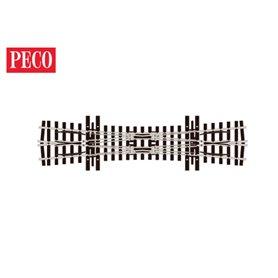 Peco SL-E1490 Korsningsväxel, vinkel 10°, längd 190,5 mm