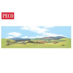Peco SK-13 Bakgrundskuliss, stor, bergsmotiv, 1 st
