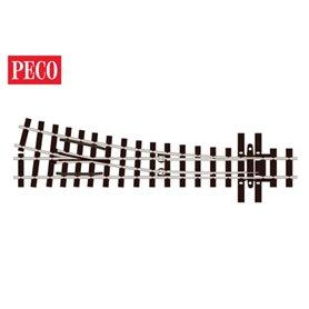 "Peco SL-E495 Växel, höger, radie 457 mm, vinkel 14° ""Mainline"""