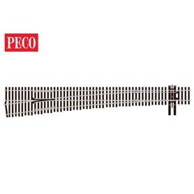 Peco SL-8382 Växel, vänster, radie 1702, vinkel 7,15°, längd 322 mm