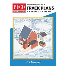 "Peco PB-66 Spårplansbok ""Track Plans for Various Locations"""