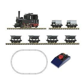 Roco 31035 H0e Analogue start set: Light railway steam locomotive and lorry train