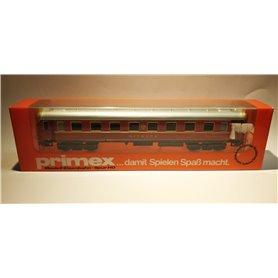 """Märklin 4196 Primex restaurangvagn """"Mitropa"""".\n\nLängd över buffertar 22 cm.\n\nTillverkad år 1989."""