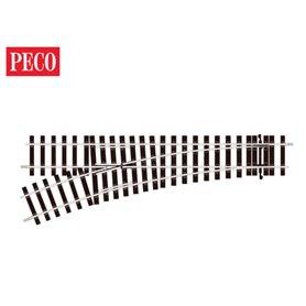 "Peco ST-U751 Växel ""Unifrog"", vänster, radie 1028 mm, vinkel 22,5°, längd 394 mm"