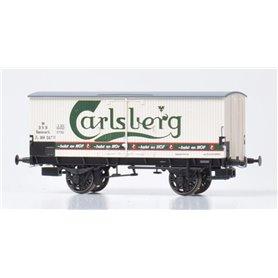 "Dekas DK-872141 Godsvagn DSB ZA 99 517, green logo ""Carlsberg"""