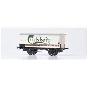 """Dekas DK-872142 Godsvagn DSB ZA 99 518, green logo """"Carlsberg"""", approx 1954-62"""