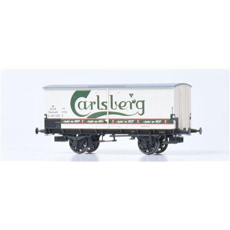 """Dekas DK-872144 Godsvagn DSB ZA 99 520, green logo """"Carlsberg"""", approx 1954-62"""