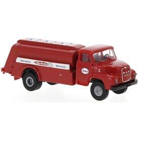 Brekina 45056 MAN 635 tankbil, röd, Esso, 1955
