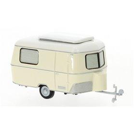Brekina 55815 Eriba Pan husvagn, ljus beige, 1960