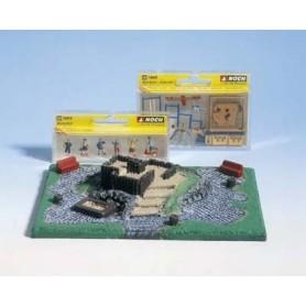 """Noch 65500 Diorama-set """"Lekplats"""", innehåller färdig grundplatta + figurer, leksaker m.m."""