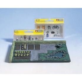 """Noch 65504 Diorama-set """"Trädgård"""", innehåller färdig grundplatta + figurer, djur, stolar m.m."""