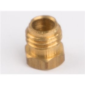 Wilesco 1828 Pipe coupling nut for steam pipe fixing brass M6 x 0,75