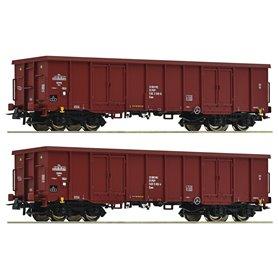 Roco 76038 Vagnsset med 2 öppna godsvagnar PKP