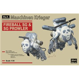 Hasegawa 64113 FIREBALL SG & SG PLOWLER (2 kits in the box)