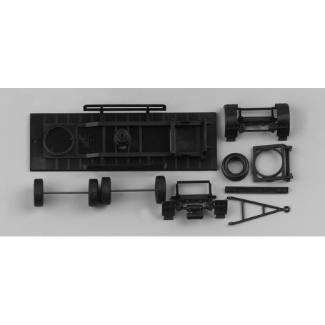 Herpa 081061 Chassis for trailer, firm body (7,45m) Content: 2 pcs.