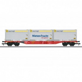 Märklin 58641 Type Sgns 691 Container Transport Car, WoodTainer XXL Containers Included