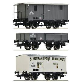 Roco 76037 Vagnsset med 3 godsvagnar kkStB