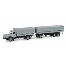 "Herpa 153393 Buessing 8000 canvas cover trailer ""Fehrenkötter"""